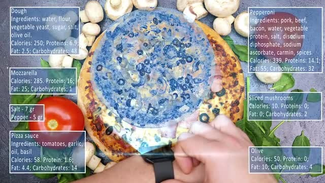 Using Smartwatch To Analyze Recipes: Stock Video