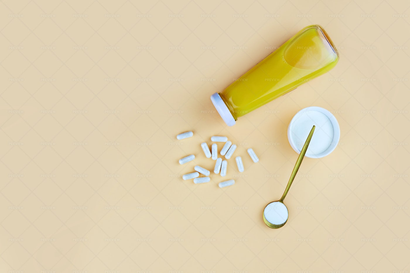 Collagen And Orange Juice: Stock Photos