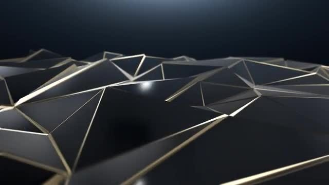 Black and Gold Triangle Background: Stock Motion Graphics