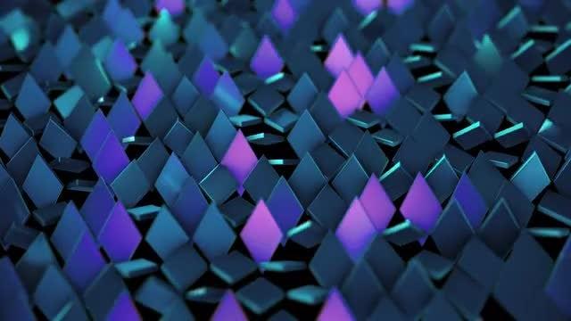 Rotating Rhombus Background: Stock Motion Graphics