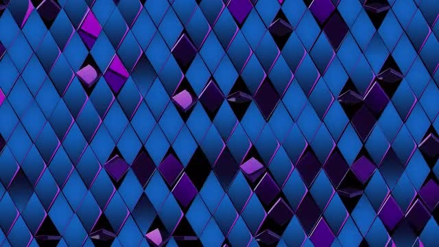 Shiny, Metallic Blue-Purple Rhombus: Stock Motion Graphics