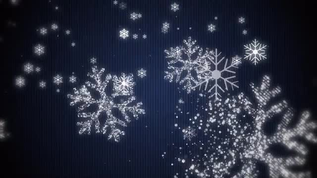 Snowflake Particles Background: Stock Motion Graphics