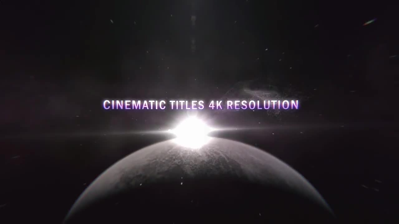 Cinematic Planet Titles (4K) - Free download