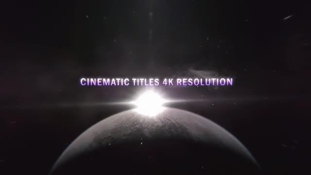 Cinematic Planet Titles (4K): After Effects Templates