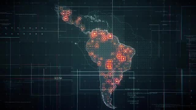 Digital Latin America Map Pack: Stock Motion Graphics