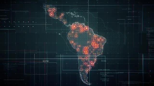 Digital Latin America Map Pack: Stock Motion Graphics