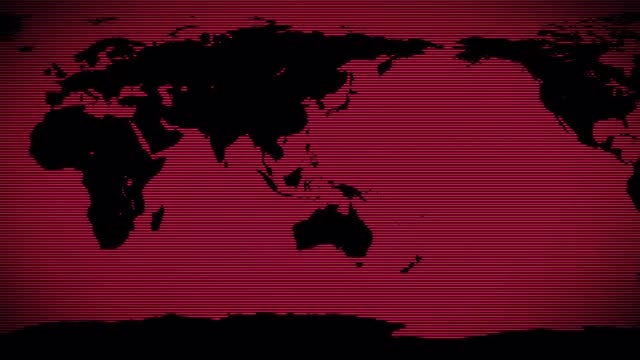 Red World Background: Stock Motion Graphics
