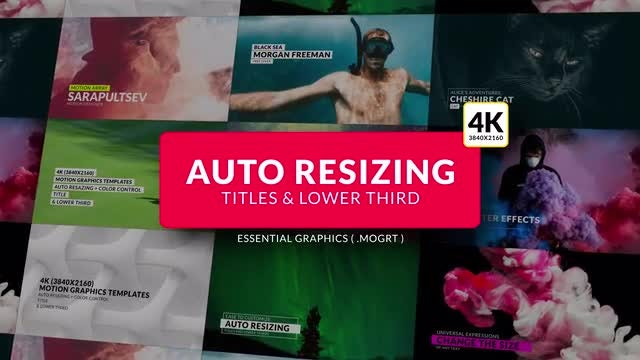 Auto Resizing - Titles & Lower Third: Motion Graphics Templates