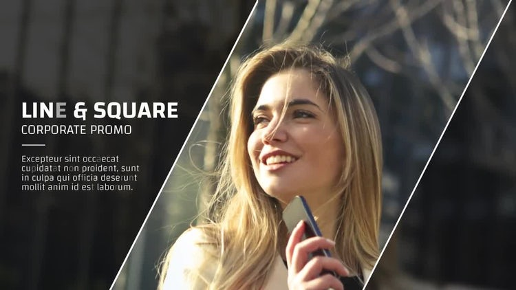 Line & Square - Corporate Promo: After Effects Templates