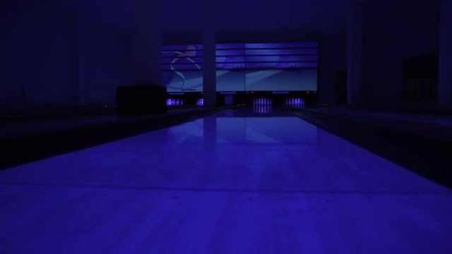 Panning Shot Of Bowling Alley: Stock Video
