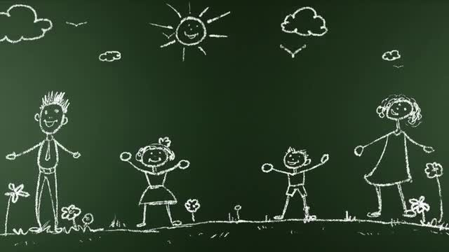Animated Chalk Board Family: Stock Motion Graphics