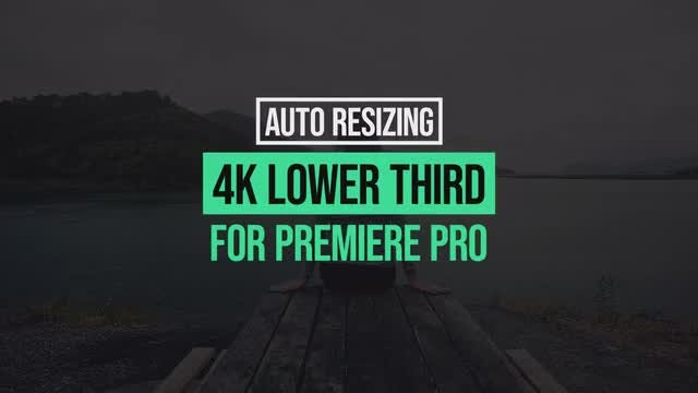 4k Lower Thirds Motion Graphics Template: Motion Graphics Templates