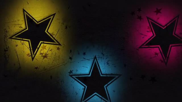 Gritty Star Background: Stock Motion Graphics