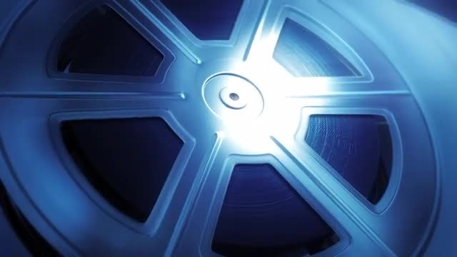 Blue Reel Background: Stock Motion Graphics