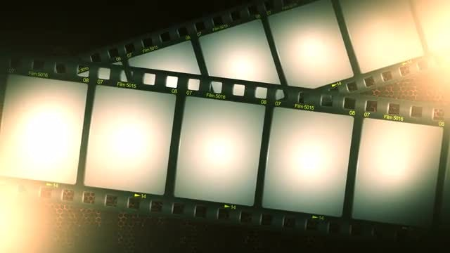 Film Strip Background: Stock Motion Graphics
