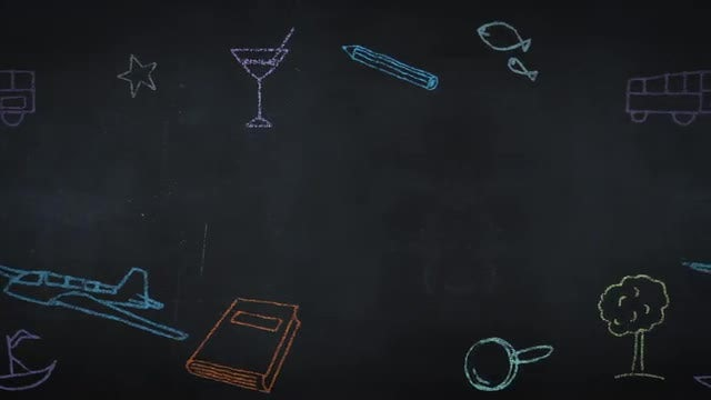 Animated Chalk Drawings: Stock Motion Graphics