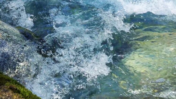 Clean Glacial Water Flowing Slowly: Stock Video