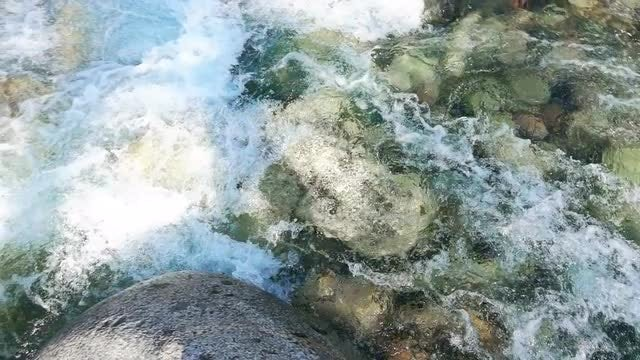 Slow Motion Glacial River: Stock Video