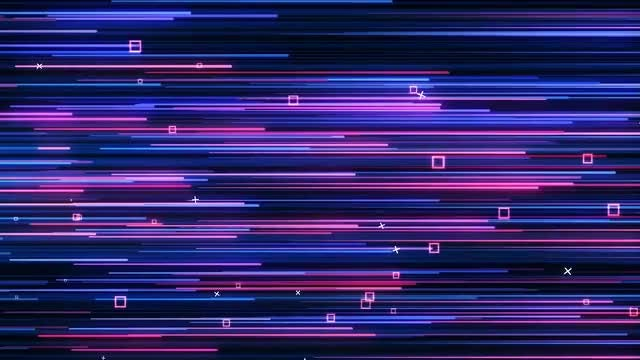 Pink and Blue Neon VJ background: Stock Motion Graphics