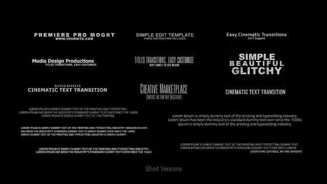 28 Glitch Titles: Motion Graphics Templates