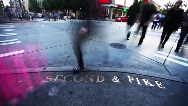 Time Lapse Of Busy Intersection: Stock Video