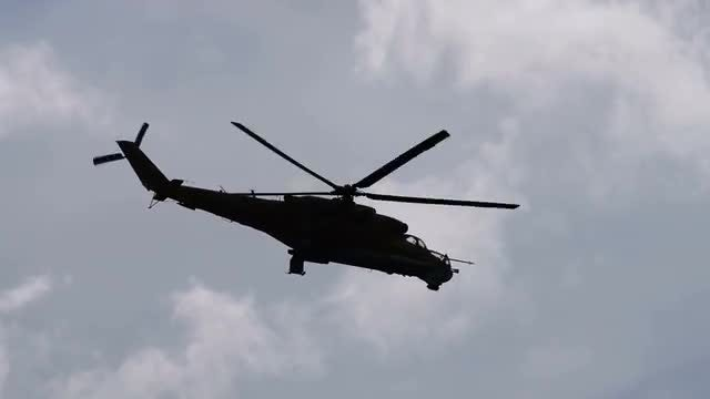 Military Helicopters In The Sky: Stock Video