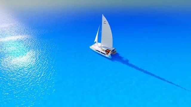 Ship On A Blue Sea: Stock Motion Graphics