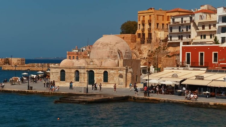 Chania Old Town, Crete, Greece: Stock Video