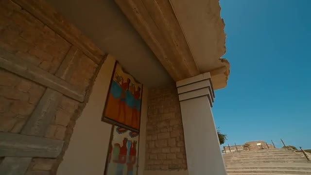 Palace Of Knossos, Heraklion, Crete, Greece: Stock Video