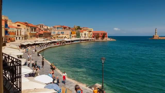 Time Lapse Of Chania City: Stock Video