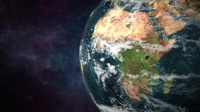 Earth Rotation Closeup: Stock Motion Graphics