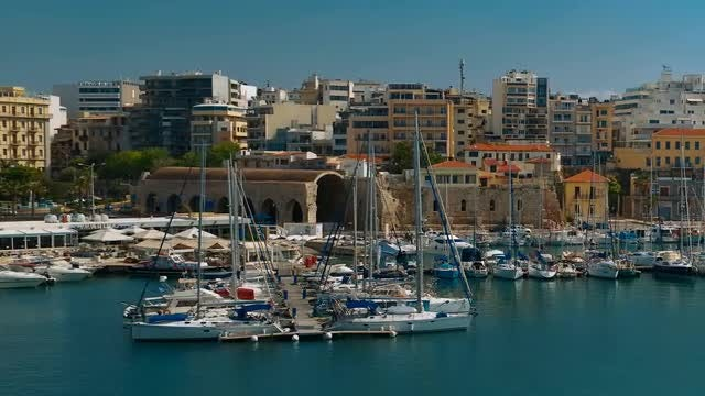 Heraklion Port In Crete, Greece: Stock Video