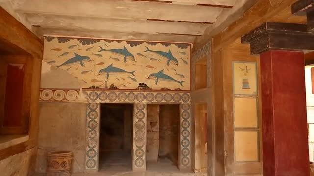 Minoan Palace Of Knossos: Stock Video