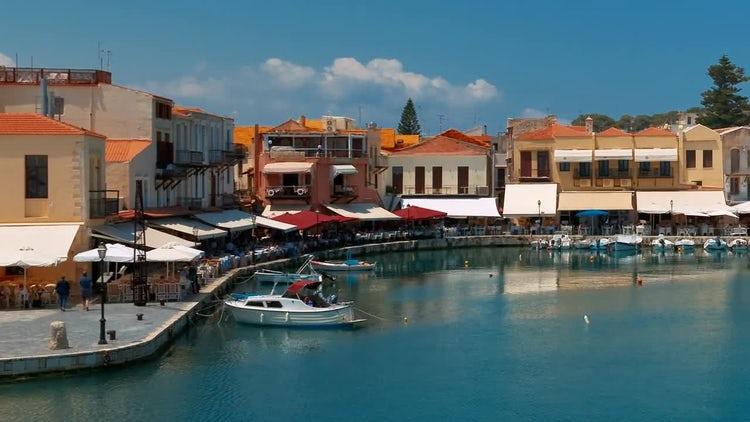 Rethymno, Crete, Greece: Stock Video