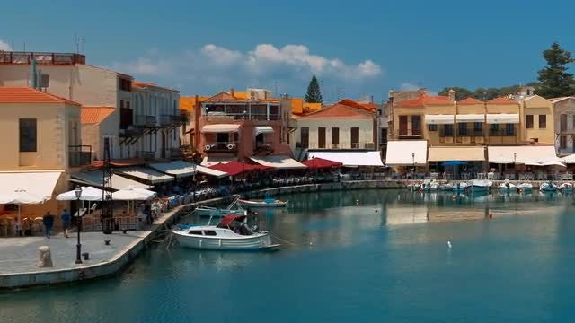 Rethymno, Crete, Greece: Stock Video