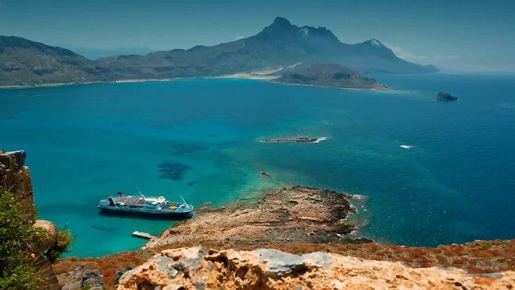 Gramvousa Island In Crete, Greece: Stock Video