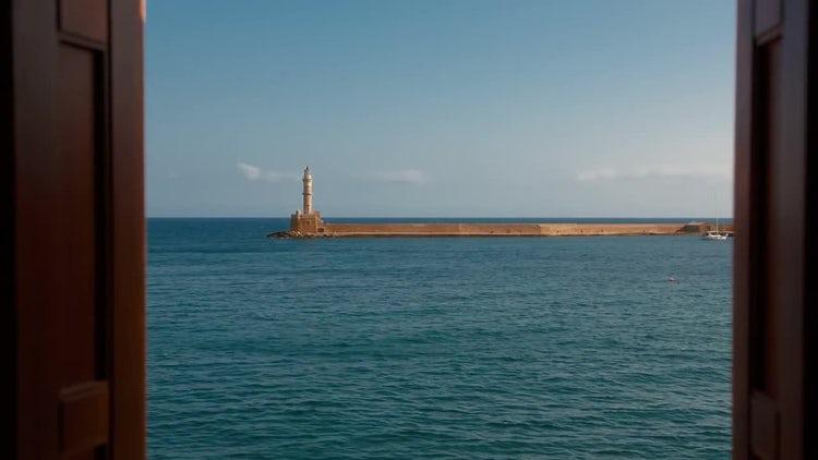 Venetian Lighthouse In Greece: Stock Video