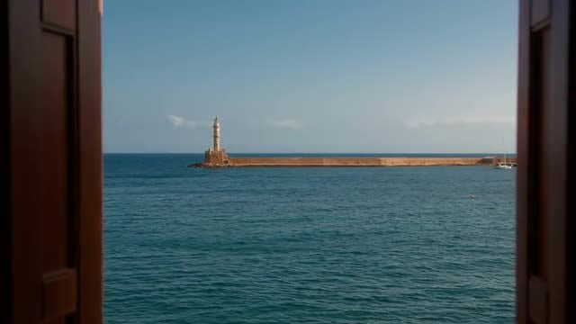 Venetian Lighthouse In Greece: Stock Video