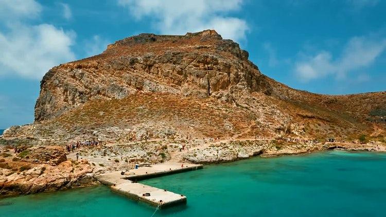 Beautiful Gramvousa Island In Greece: Stock Video