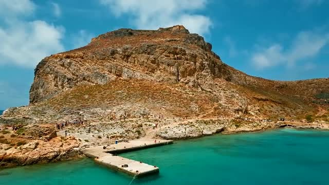 Beautiful Gramvousa Island In Greece: Stock Video