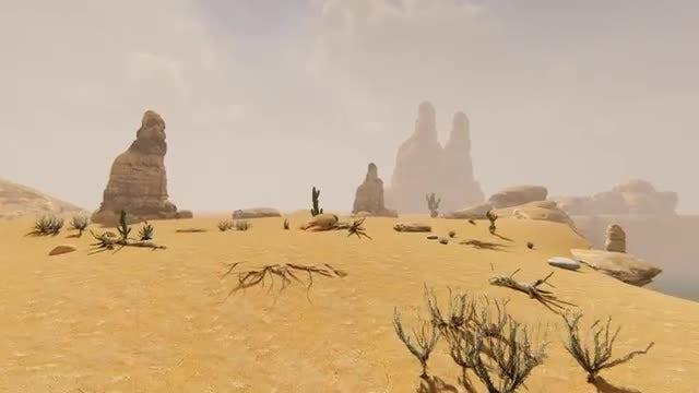 Desert And Fog: Stock Motion Graphics