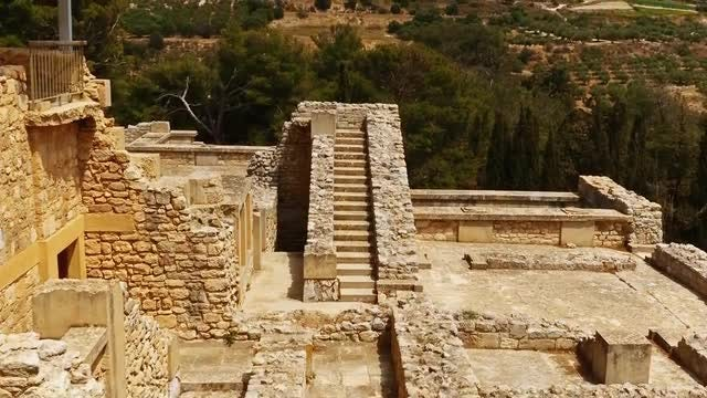 Minoan Palace Of Knossos In Crete: Stock Video