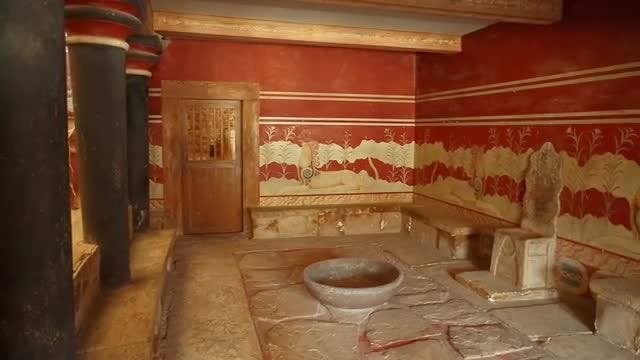 Throne Room At Knossos Palace: Stock Video