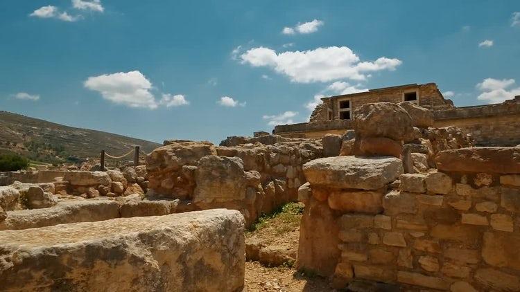 Palace Of Minos In Heraklion: Stock Video