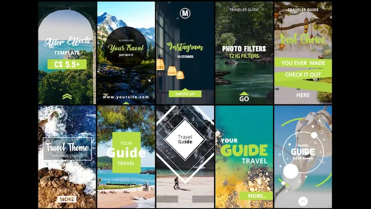 Instagram Story Travel: After Effects Templates