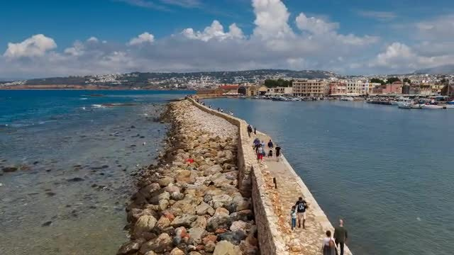 Chania Timelapse, Crete, Greece: Stock Video