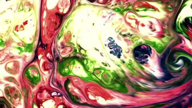 Colorful Paint Mixture Spreading Slowly: Stock Video