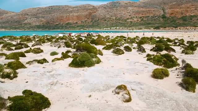 Balos Beach On Crete Island: Stock Video