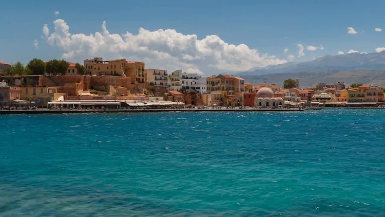 Seaside Timelapse  In Crete, Greece: Stock Video