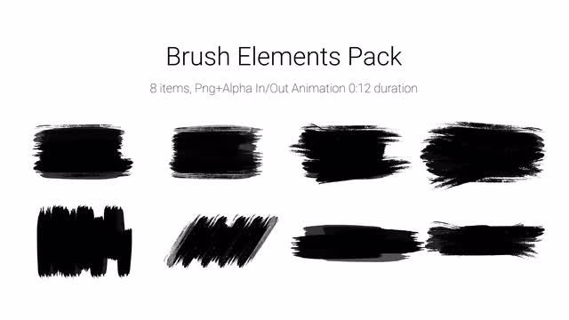 Brush Elements Pack: Stock Motion Graphics